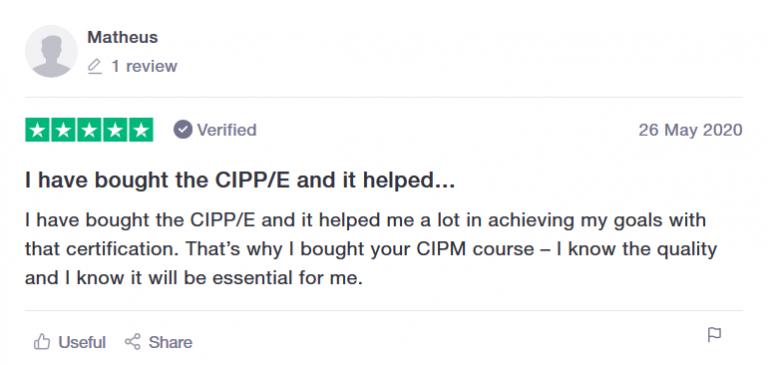CIPPTraining review CIPPE CIPPUS CIPM